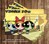 Powerpuff Girls Show Thank You Card