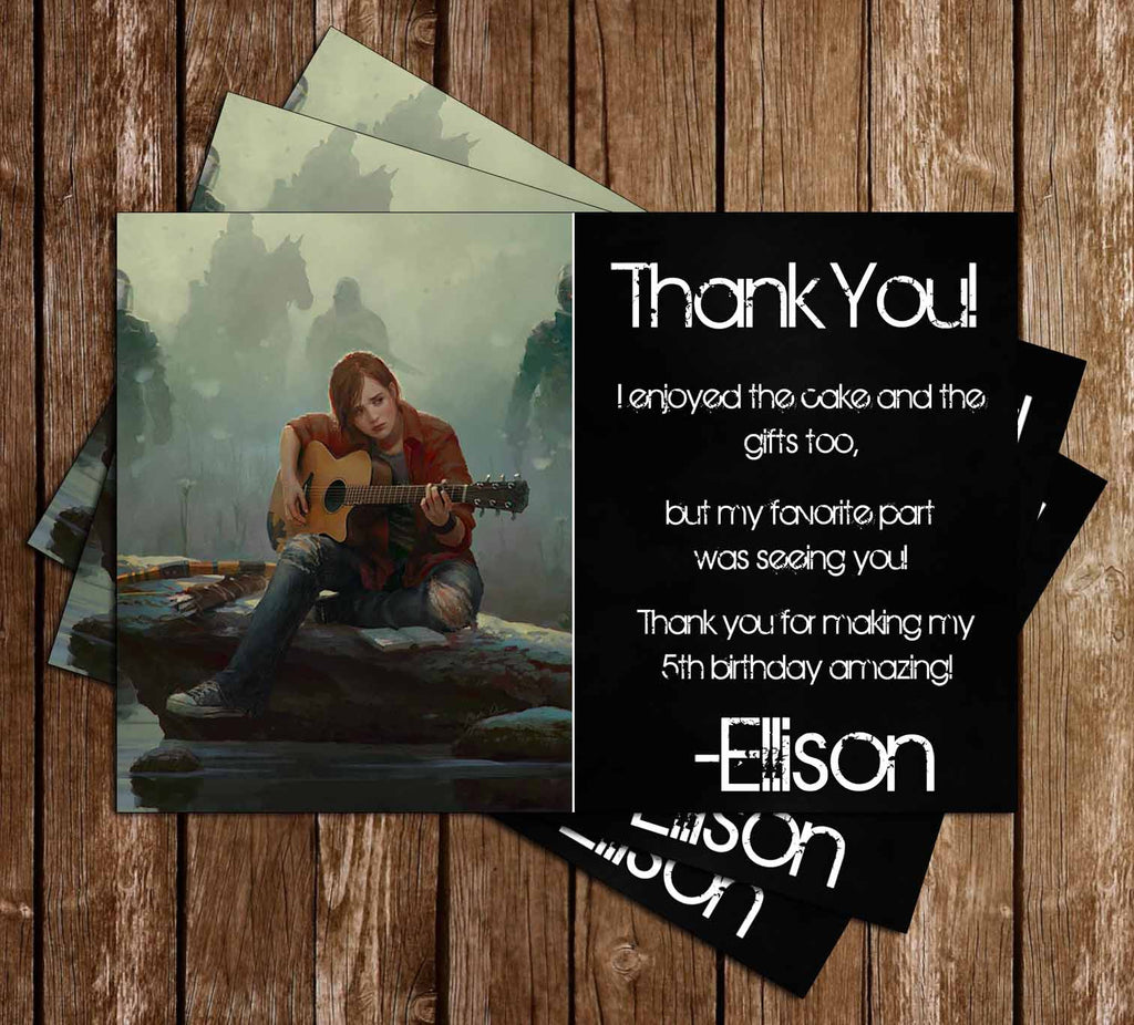 The Last of Us Game Birthday Thank You Card
