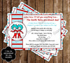 Dr. Suess Thing One and Thing Two Cat in the Hat Baby Shower Invitation