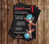 Thing 1 and Thing 2 - Cat in the Hat - 1st Birthday Party Invitation Printable
