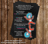 Cat in the Hat - Thing 1 and Thing 2 - 1st Birthday Party Invitation Printable