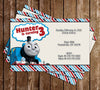 Thomas The Train Birthday Invitation