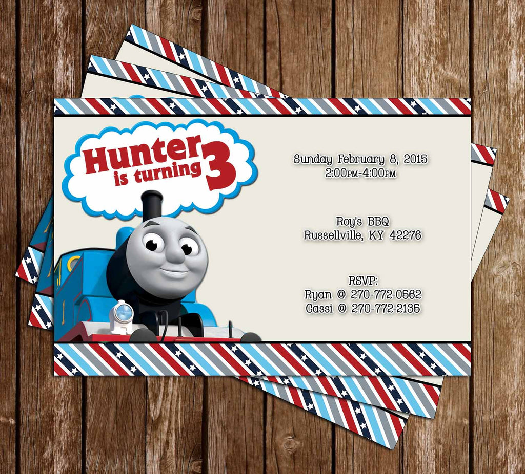 PBS Thomas The Train Show Birthday Invitation