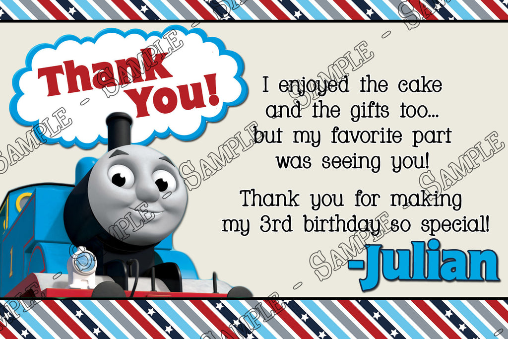 Novel Concept Designs Thomas The Train Thank You Card – Thomas the Train Birthday Invites