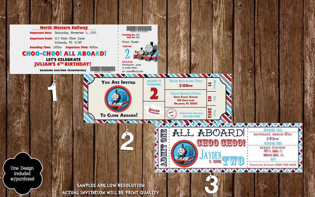 Novel Concept Designs Thomas The Train Birthday Ticket Invitation