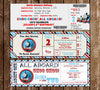Thomas The Train Birthday Ticket Invitation