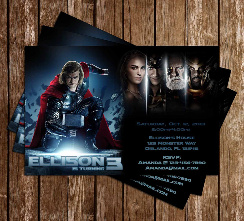 Thor Movie Birthday Invitation