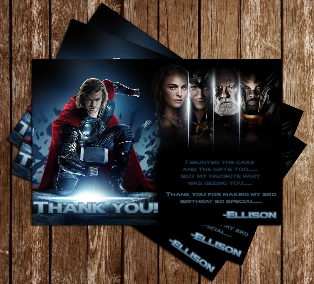 Thor Birthday Thank You Card