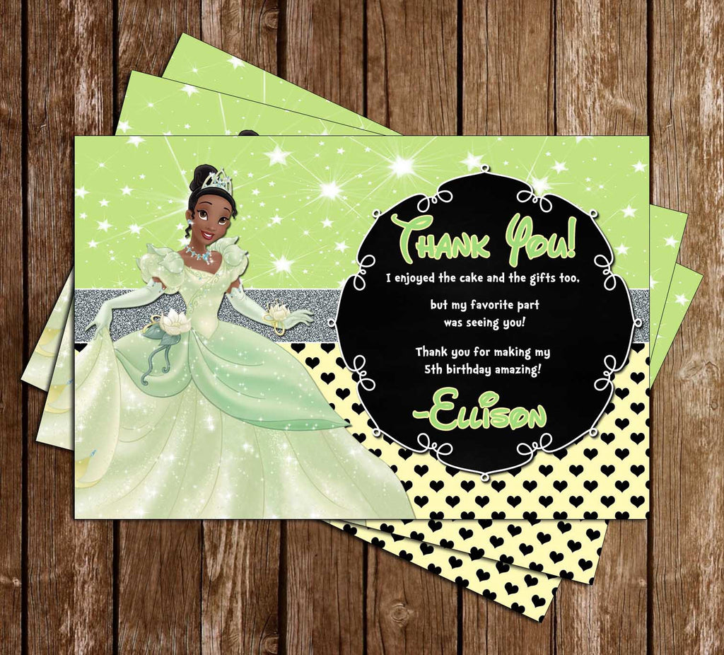 Disney Princess Tiana - The Princess and the Frog - Birthday Thank You Cards