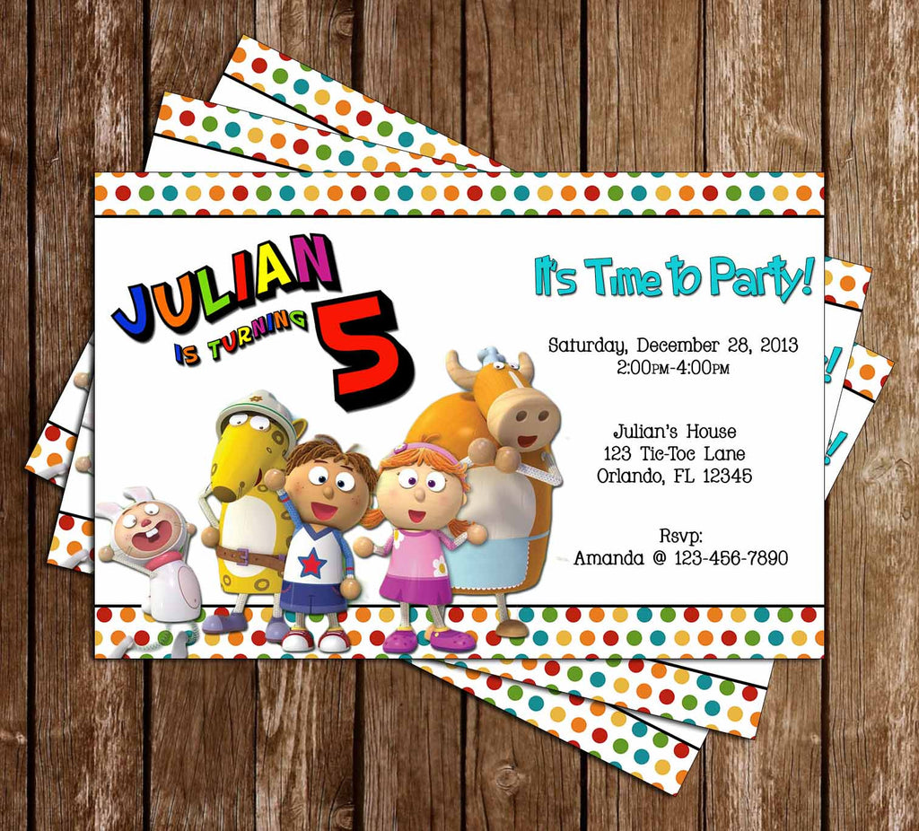 Novel Concept Designs Tickety Toc Birthday Party Invitation