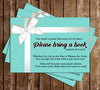 Tiffany & Co - Gender Neutral - Baby Shower - Bring a Book Insert
