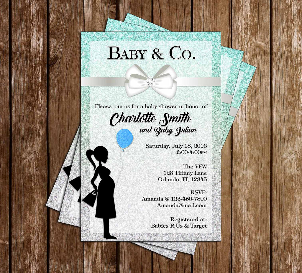 Tiffany & Co - Baby Boy - Baby Shower Invitations
