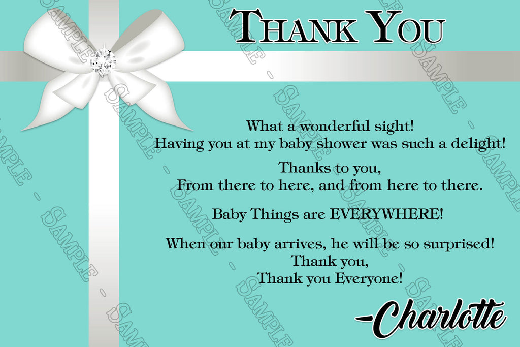 Novel Concept Designs Tiffany Co Baby Shower Thank You Cards