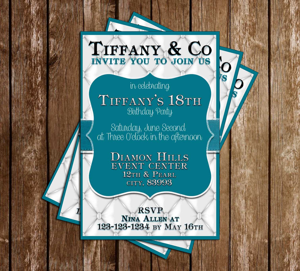 Tiffany & Co - Silver - Birthday Party - Invitations