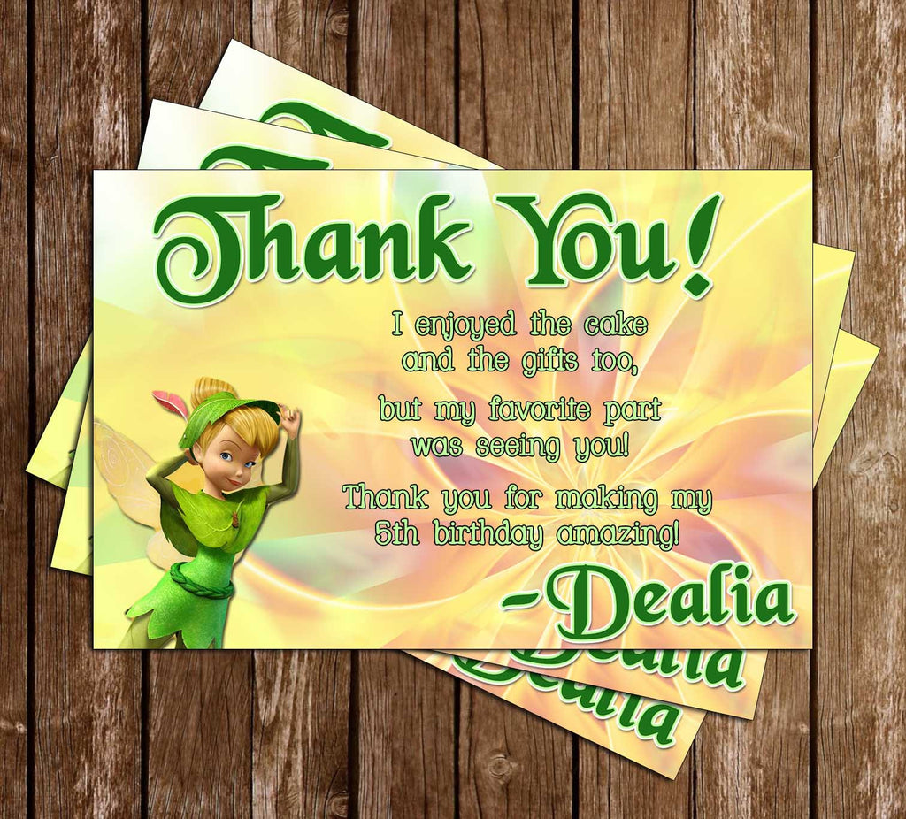 Disney Tinkerbell Thank You Card (2 Designs)