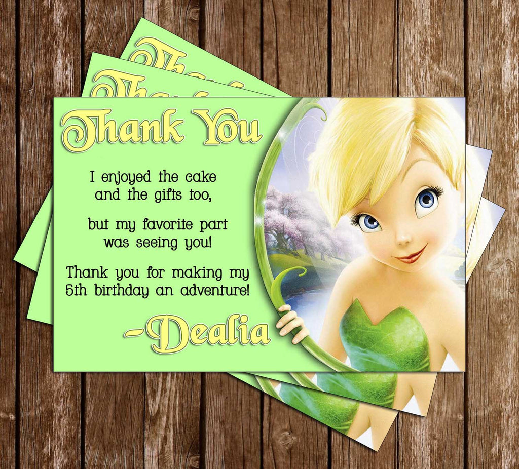 Tinkerbell Thank You Card (2 Designs)