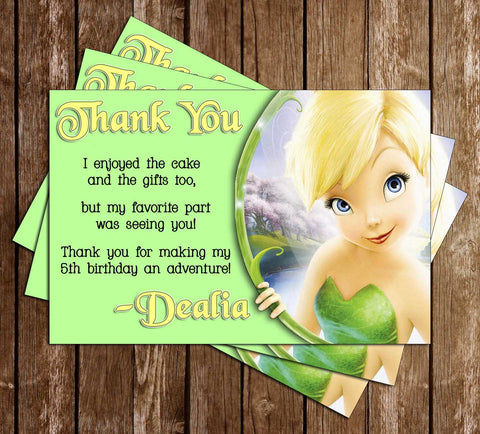 Tinkerbell Thank You Card 2 Designs