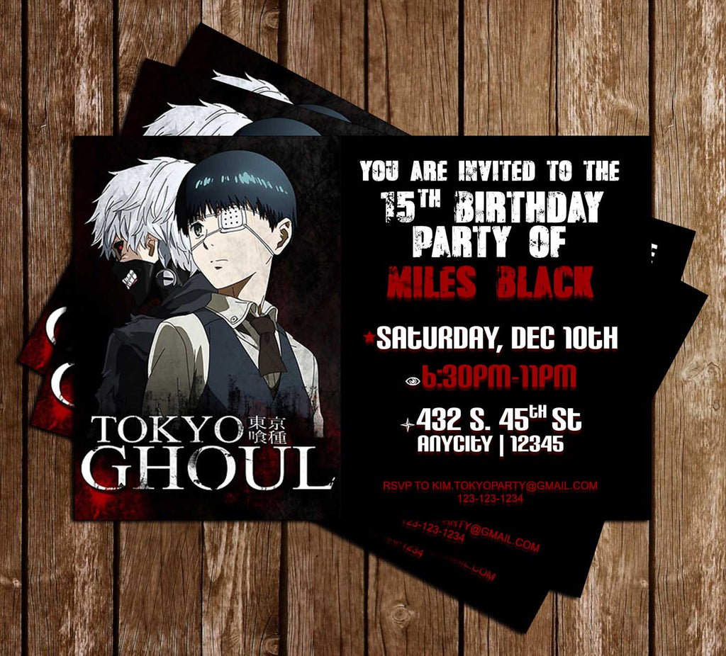 Anime Printable Party Invitations Anime Invitations Etsy