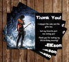 Tomb Raider Video Game Birthday Thank You Card