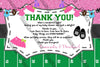 Gender Reveal - Touchdowns or Tutus - Baby Shower - Thank You Card