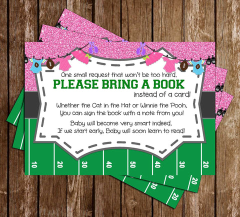 Touchdowns or Tutus - Gender Reveal - Baby Shower - Book Insert
