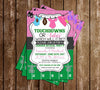 Gender Reveal - Touchdowns or Tutus - Baby Shower - Invitation