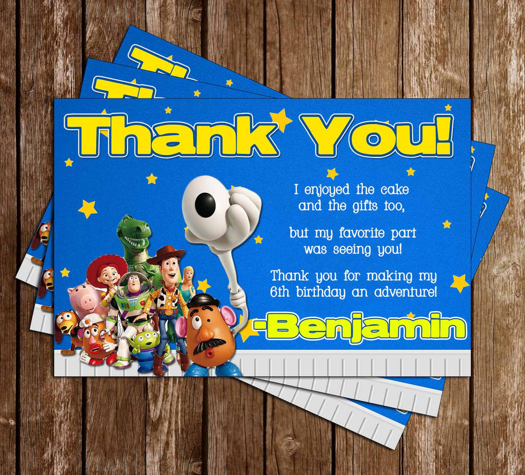 Disney Toy Story Movie Birthday Thank You Card (Stars)