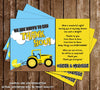 Tractor Baby Boy Baby Shower Thank You Card