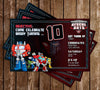 Transformers - Rescue Bots - Birthday Party - Invitations