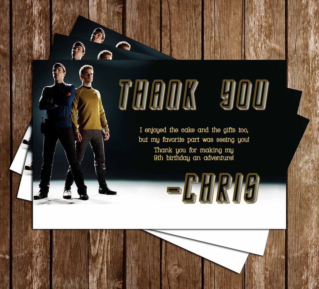 Star Trek Movie Birthday Thank You Card (2 Designs)