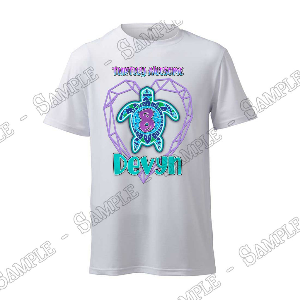 Turtle - Birthday Child - T-Shirt - Personalized