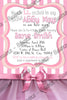 Ballerina - Tutu Excited - Baby Shower - Party - Invitation
