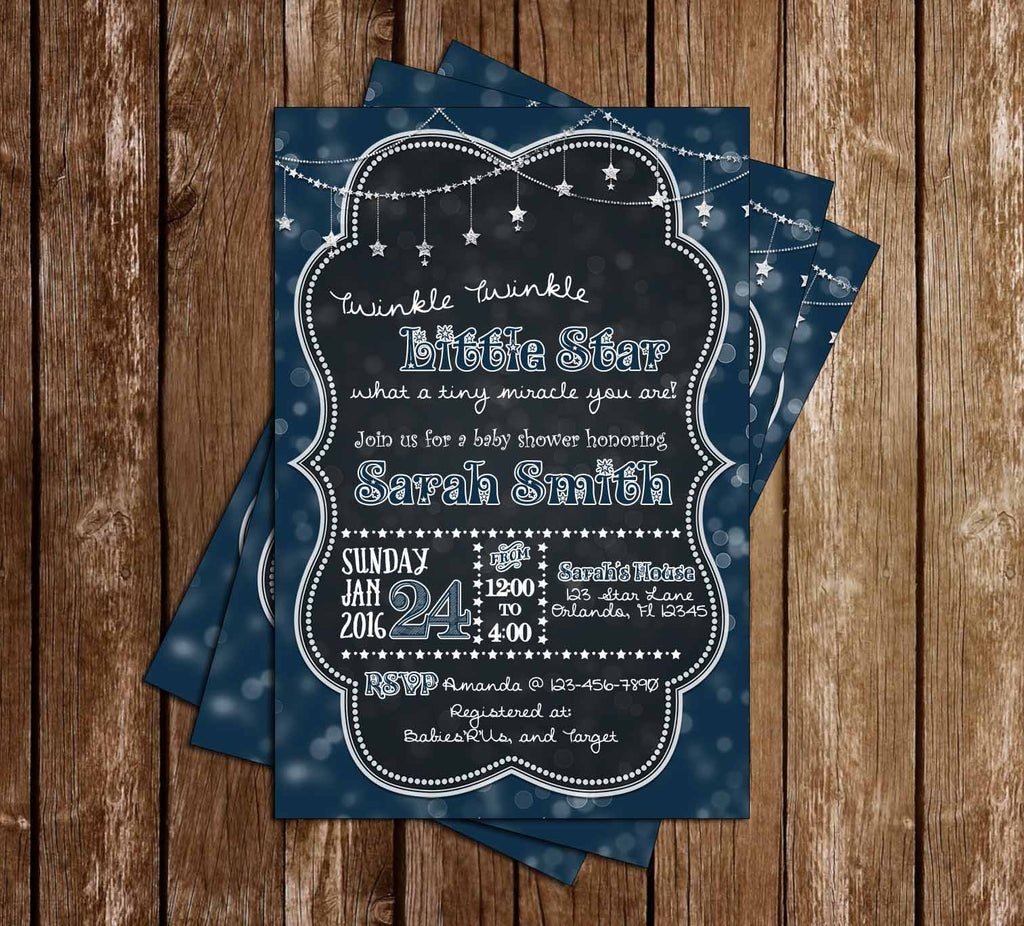 Twinkle Twinkle Little Star - Baby Shower Invitation
