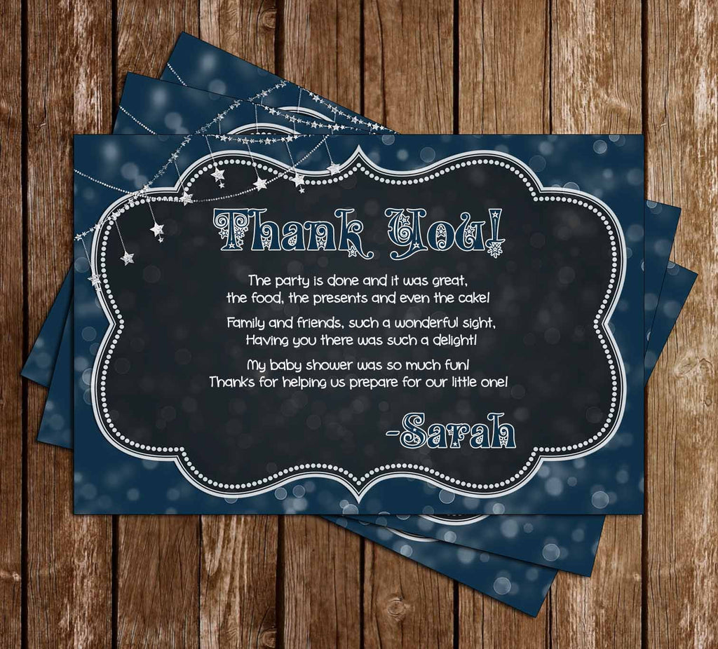 Twinkle Twinkle Little Star - How Loved - Baby Shower Thank You Card