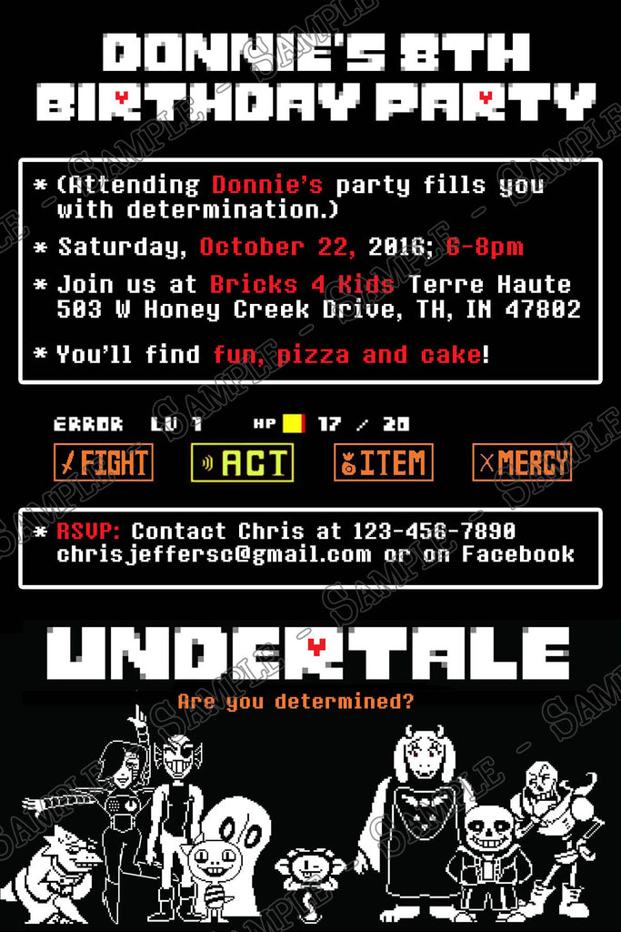Novel Concept Designs - Undertale the Video Game ...