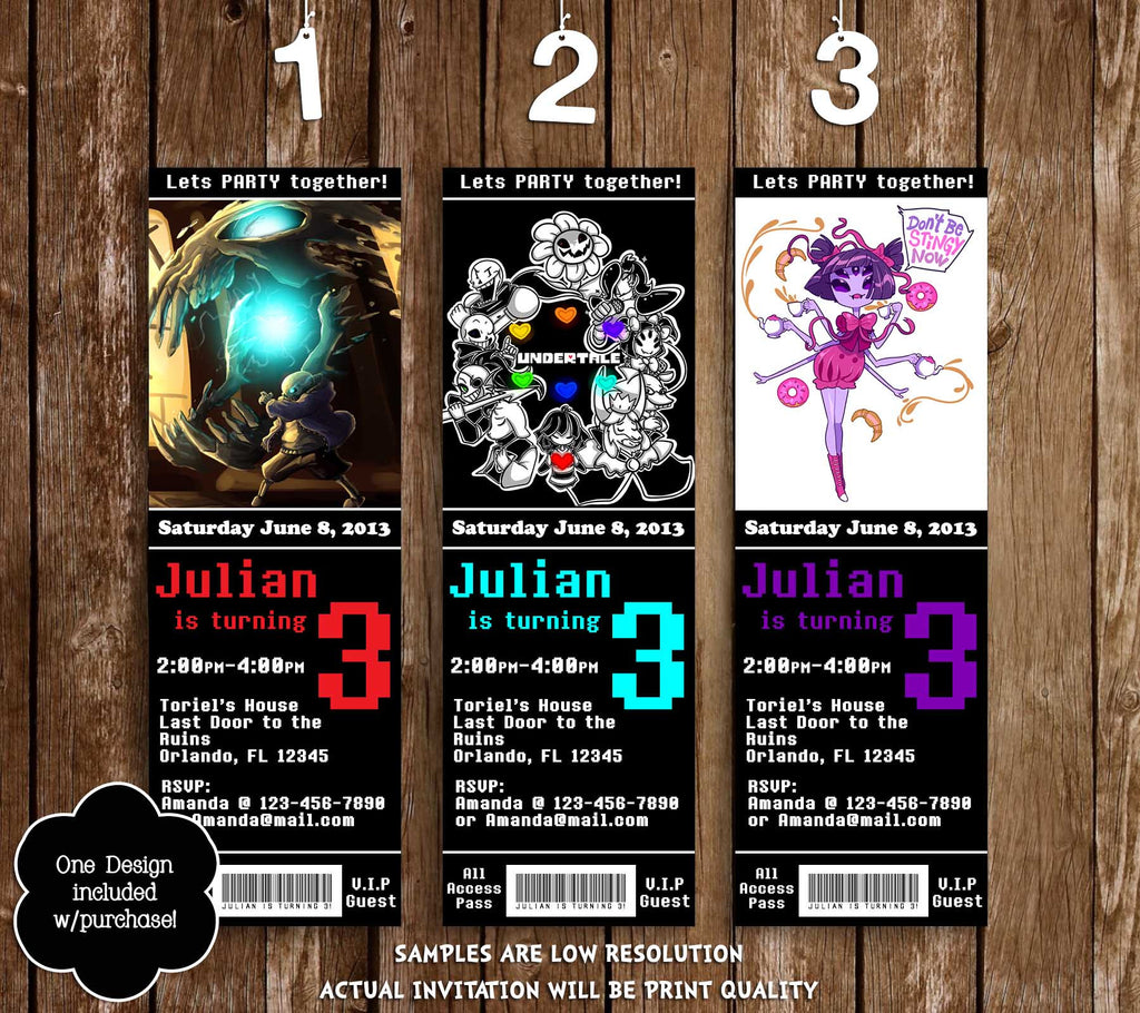 Novel Concept Designs - Undertale Game Ticket Birthday ...
