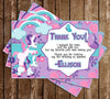 Unicorns - Magical Creature - Birthday Party - Thank You Card