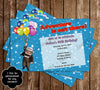 Disney Up Movie Birthday Party Invitation