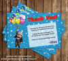 Disney Up Movie Birthday Thank You Card