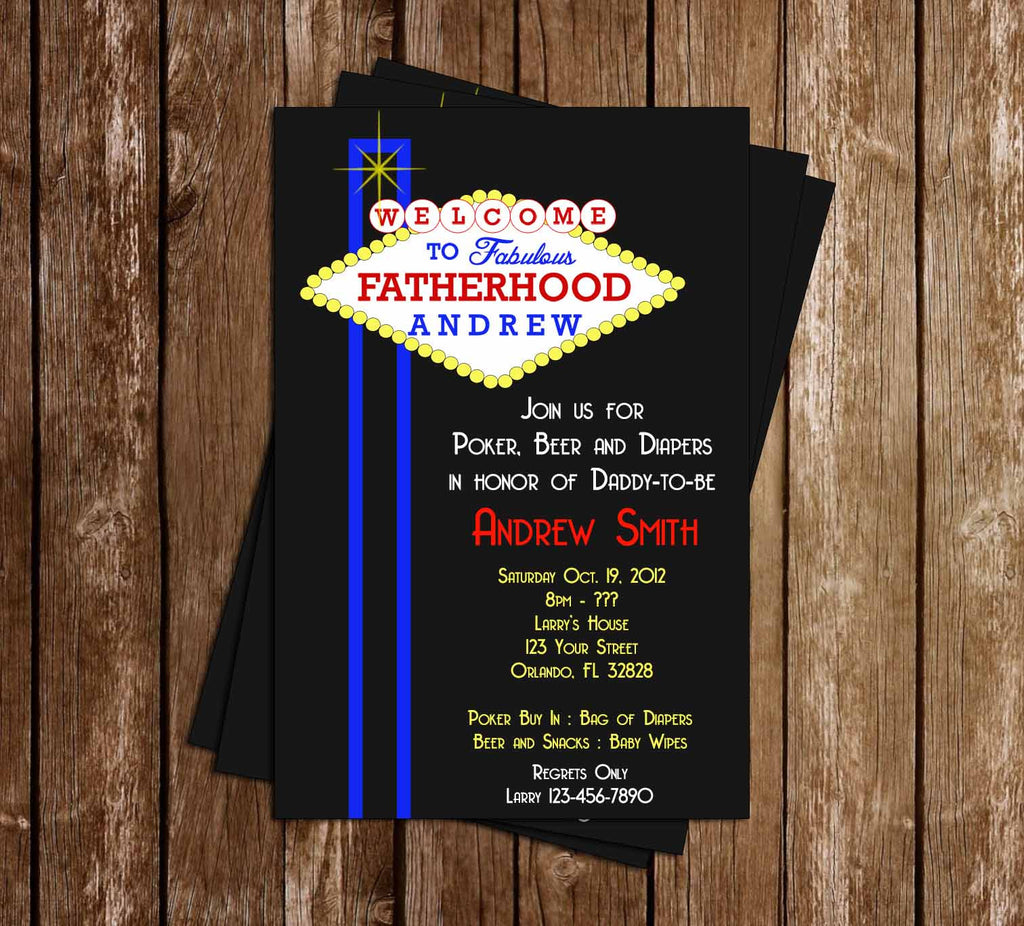 Novel concept designs vegas man shower baby shower invitation vegas man shower baby shower invitation stopboris