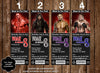 WWE Superstars Birthday Party Ticket Invitation