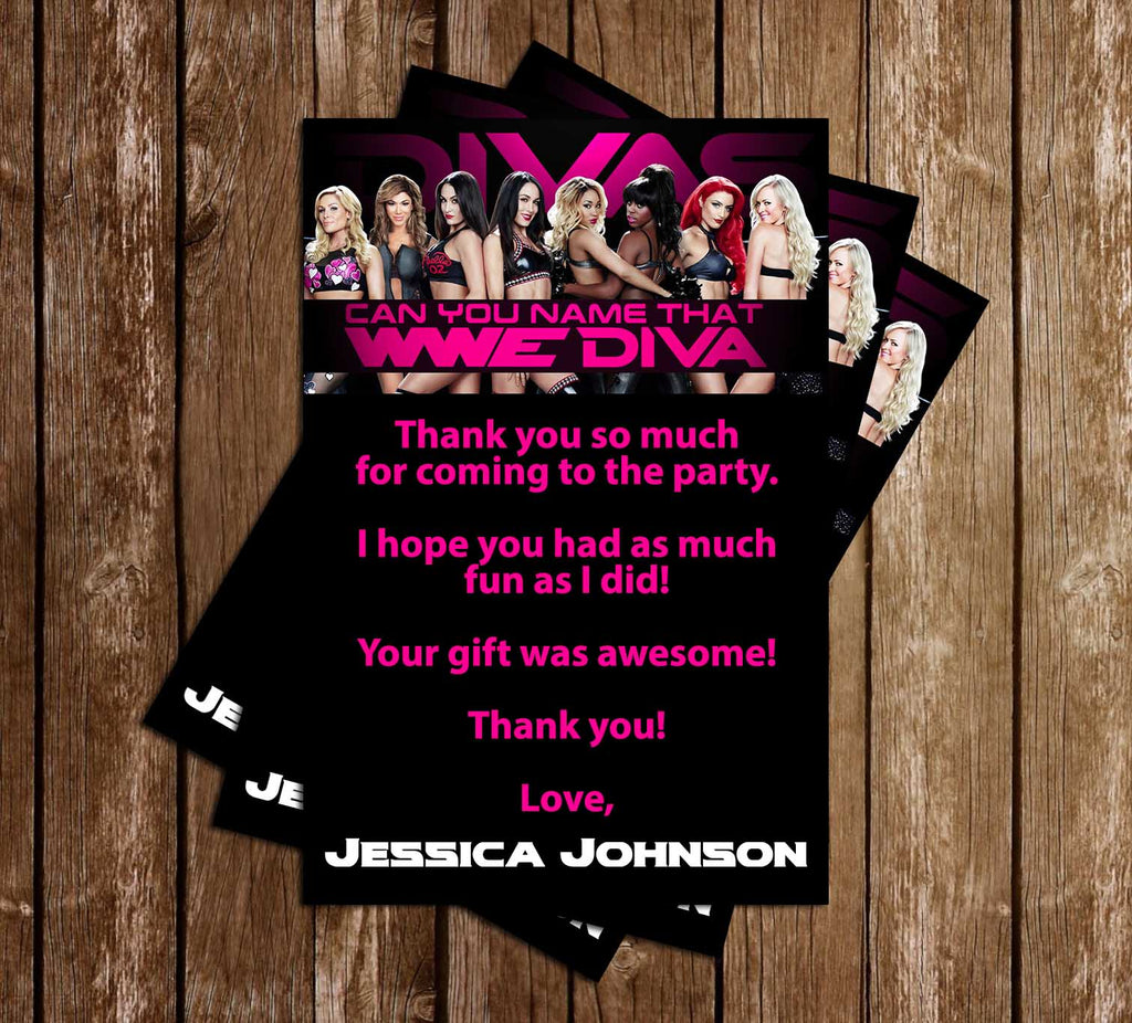 Novel Concept Designs WWE Divas Birthday Party Invitation