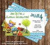 Disney Wallykazam Show Birthday Party Invitation