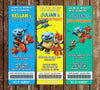 Disney Wallykazam Show Birthday Party Ticket Invitation