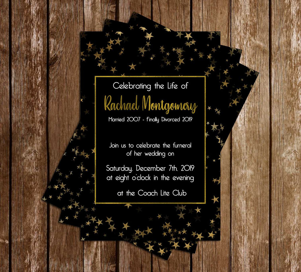 Wedding Funeral - Finally Divorced - Invitation