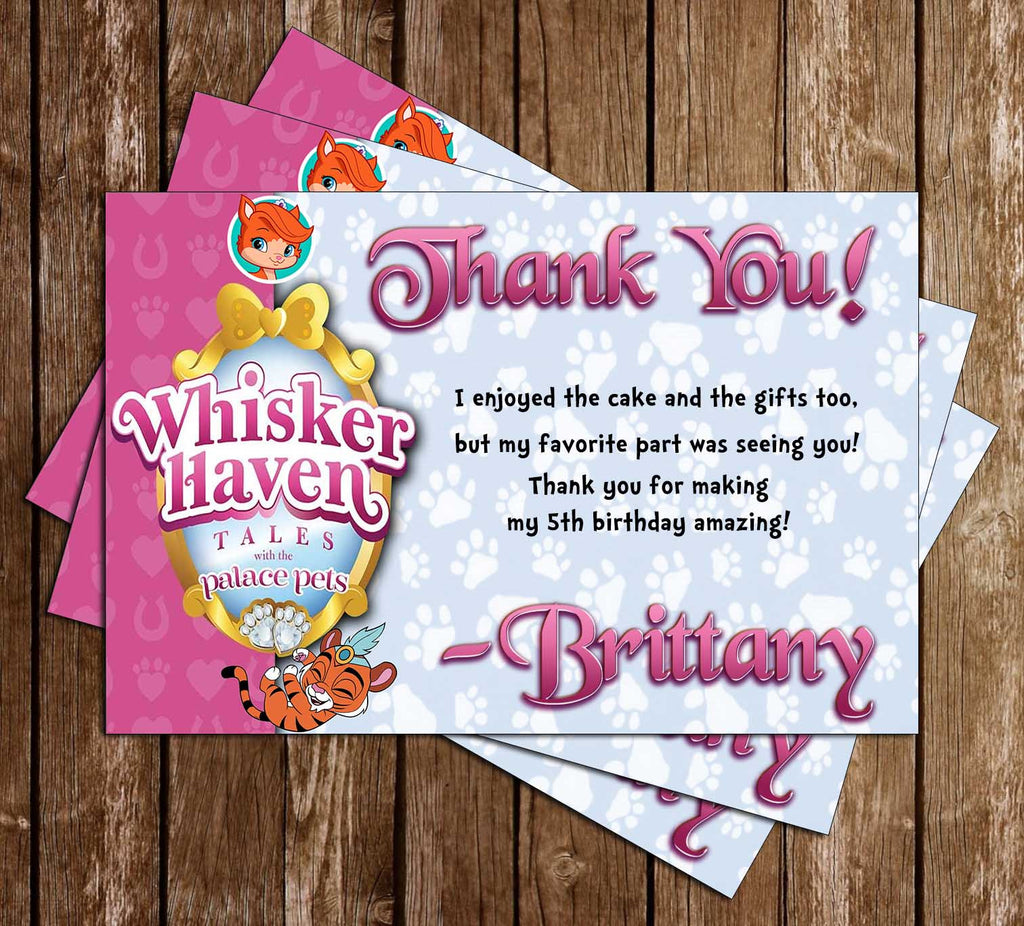 Whisker Haven Tales - Disney Jr - Birthday Party - Thank You Card
