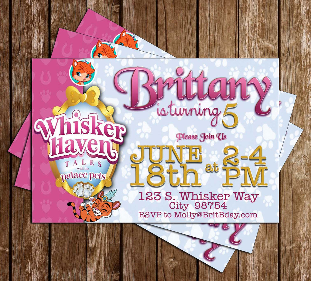 Whisker Haven Tales - Disney Jr - Birthday Party - Invitation