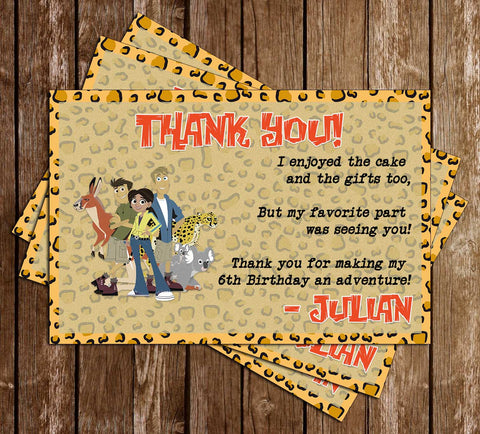 Wild Kratts - Birthday Party - Thank You Card