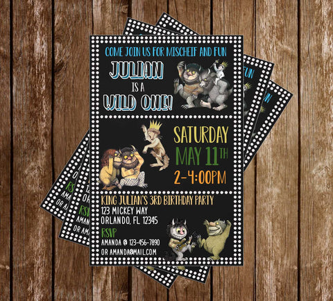 Where the Wild Things Are - Birthday Party - Invitations