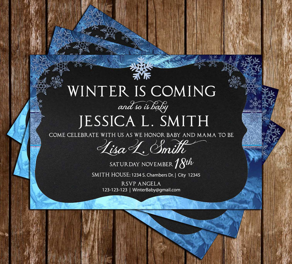 Novel Concept Designs - Winter is Coming - Baby Shower - Invitation